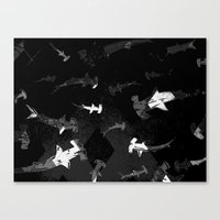 Argyle Frenzy in Shadow Canvas Print
