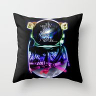 Space Mission Throw Pillow