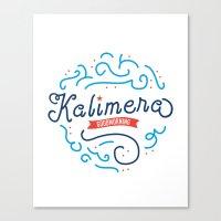 Kalimera Canvas Print