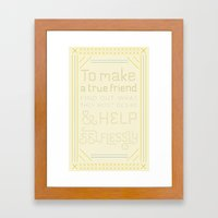 Advice for David Framed Art Print