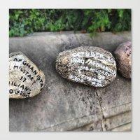 Memory Rocks (Yale, CT) Canvas Print