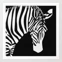 Zebra Head Stripe Design Pattern  Art Print