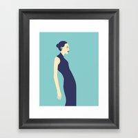 Celandine Blue Framed Art Print
