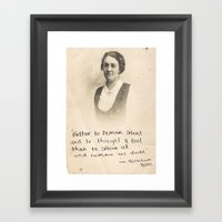 The Quote And The Photog… Framed Art Print