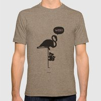 WTF? Flamenco! Mens Fitted Tee Tri-Coffee SMALL