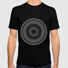 Mandala no 4 - inverted Mens Fitted Tee Black SMALL