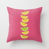 Citrus Tip Pink Lemonade Throw Pillow
