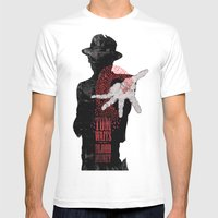 Tom Waits Mens Fitted Tee White SMALL