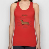 Anatomy of a Dachshund Unisex Tank Top