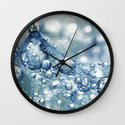 Sparkling Dandy in Blue Wall Clock