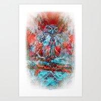 Bright Owler Aka Bird Dr… Art Print