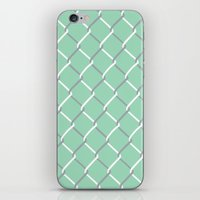 Chain Link on Mint iPhone & iPod Skin