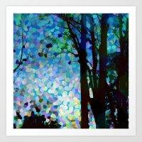 Blue Raspberry Jellybean Skies Art Print