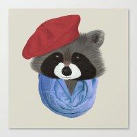 Hip Raccoon Canvas Print