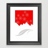 Snowscene Framed Art Print