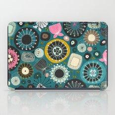 blooms teal iPad Case