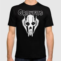 Grievfits (white) Mens Fitted Tee Black SMALL