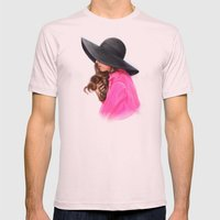 Lady In Purple Mens Fitted Tee Light Pink SMALL