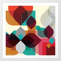 Geometric Abstraction Art Print