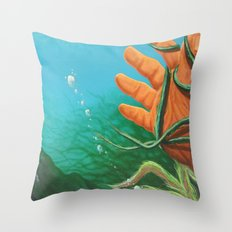 The Drowning Throw Pillow
