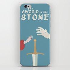 The Sword in the Stone - Walt Disney Minimal Movie Poster iPhone & iPod Skin