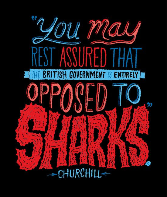 Opposed to Sharks Art Print