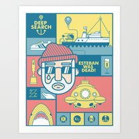 Art Print featuring The Life Aquatic With Steve Zissou by Viet Huynh