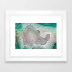 MINTY MINERAL Framed Art Print