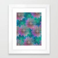 Skeleton Leaf Abstract Framed Art Print