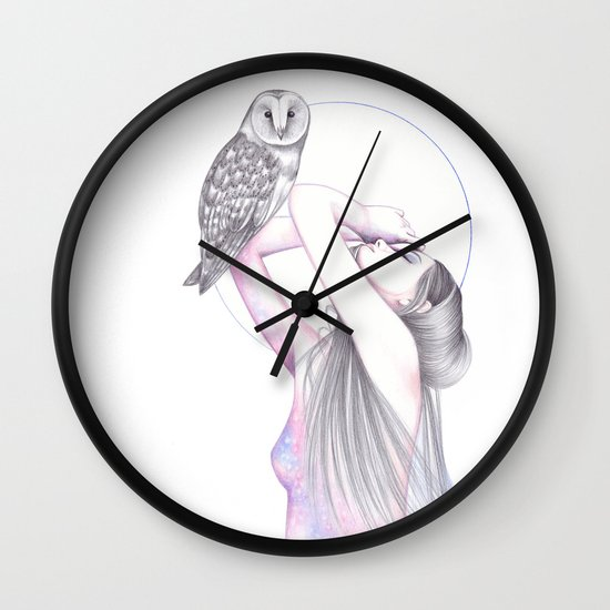 Bewitching The Moon Wall Clock