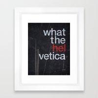 Hel Vetica Framed Art Print