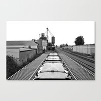 Gritty landscape Canvas Print