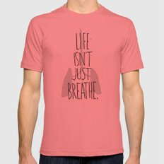 (but love) Mens Fitted Tee Pomegranate SMALL