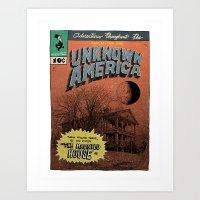 Unknown America Comics #… Art Print