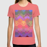 Color Wave Womens Fitted Tee Pomegranate SMALL