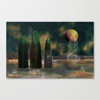 Strange Reflections Of A… Canvas Print