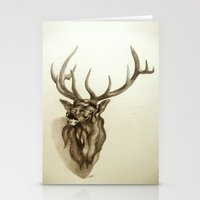 Elk Portrait - In The Ro… Stationery Cards