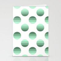 Mint Bubbles Stationery Cards