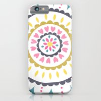 Suzani inspired floral blue 1 iPhone 6 Slim Case