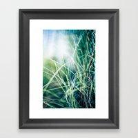 Angel Grass Framed Art Print