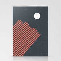 Moon Rays Stationery Cards