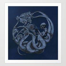 Tentaculos de Muerte Art Print