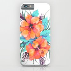 TROPICAL FLOWER {orange hibiscus}  iPhone 6 Slim Case