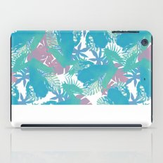 Tropical Blue Frog Pattern iPad Case