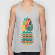 Colorful Whimsical Anana… Unisex Tank Top