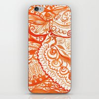 orange brushstroke iPhone & iPod Skin