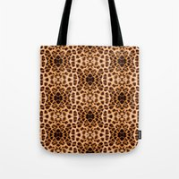 Leopard Print Kaleidoscope Abstract Tote Bag