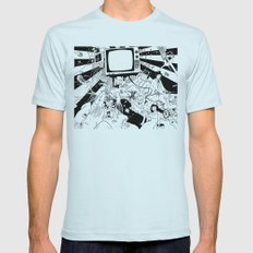 Apophenia Mens Fitted Tee Light Blue SMALL