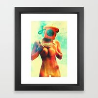 SEX ON TV - CALL ME by ZZGLAM Framed Art Print