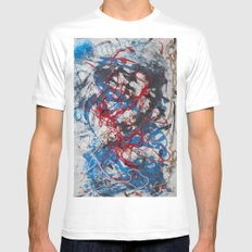 Tangled White SMALL Mens Fitted Tee
